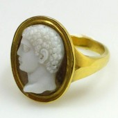 Agate Cameo Portrait of Youth