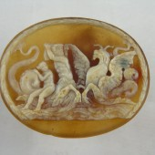 Two colour agate Cameo