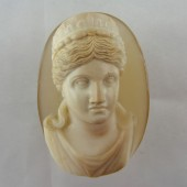 Large  Agate Cameo Portrait of Marie Louise