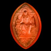 Large carver carnelian seal of  Central School of Arts and Crafts