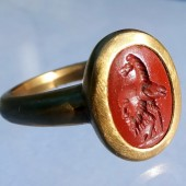 Ancient Roman Gryllos Intaglio Ring