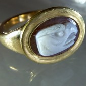 Sixteenth century eagle cameo ring