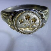 Early seventeenth century silver ring