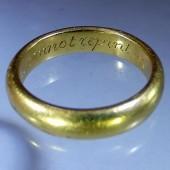 Eighteenth Century Gold Posy Ring