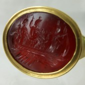 Serapis,Fortuna,Isis ancient intaglio ring