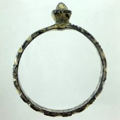 "Medieval fire gilt ""diamond"" ring"