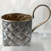 Russian Trompe l'Oeil tea glass holder