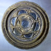 Early Tudor silver gilt hat badge