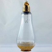 Eighteenth century Ottoman gold perfume bottle