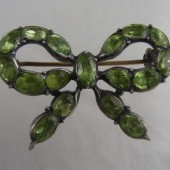 Eighteenth Century Silver and Peridot Brooch