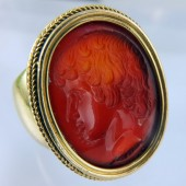 Antinous intaglio ring