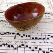 Ca 1600 Red jasper bowl with French gold mounts