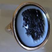 Hercules niccolo intaglio ring