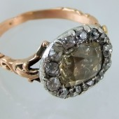 Eighteenth century topaz and diamonds ring