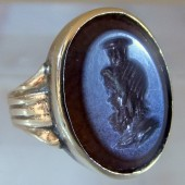 Ancient intaglio of Serapis in nineteenth century setting