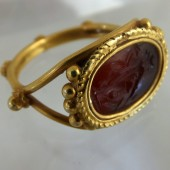 Roman gold ring with carnelian intaglio