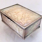 Eighteenth century carved mother of pearl box