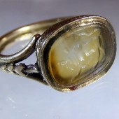 Hellenistic intaglio in eighteenth century ring