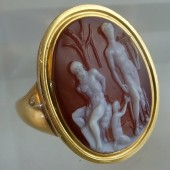 Apollo and Mersyas cameo ring