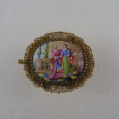 1700 Gold and Enamel slide