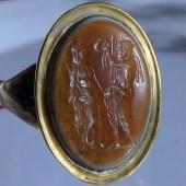 Zeus and Serapis ancient intaglio ring