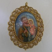 Late Eighteenth Century Devotional Gold Pendant