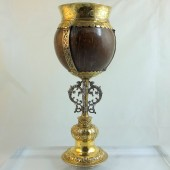 Sixteenth century silver gilt coconut cup