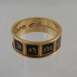 Enamel Memorial Ring