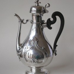 Silver Italian Coffee Pot