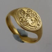 Gold Armorial Ring