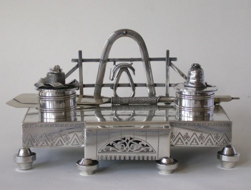 Russian Silver Inkstand