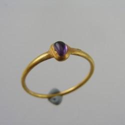 Medieval amethyst ring circa 1300
