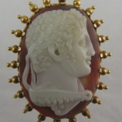 Fine Agate Cameo of the Emperor Nero