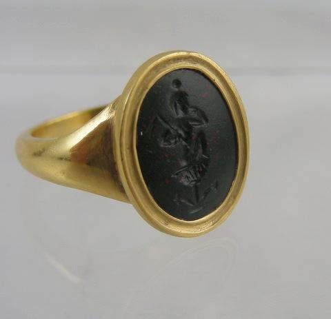 Roman Intaglio Ring Of Harpokrates