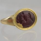 Ancient Carnelian intaglio ring