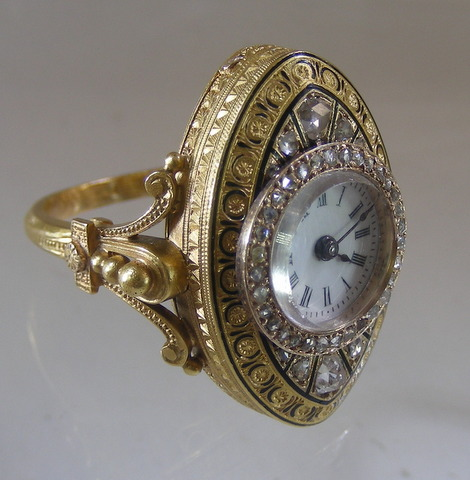 Gold Watch Ring ca 1860