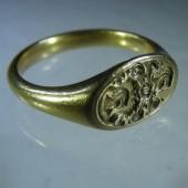 Seventeenth Century Armorial Gold Ring
