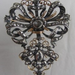 Spanish 1700 diamonds, silver, gold pendant.