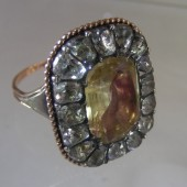 Eighteenth Century Rock Crystal and Citrine Ring
