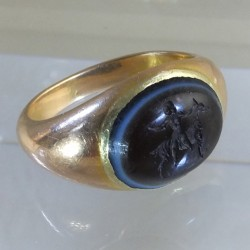 Roman glass intaglio ring