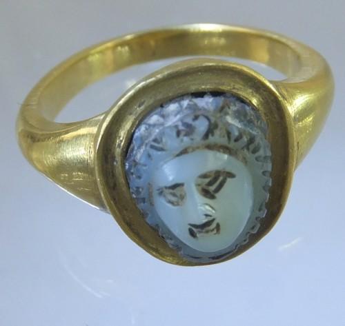 Antique medusa cameo ring aloadofball Choice Image