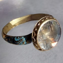 Seventeenth century enameled gold and diamond ring