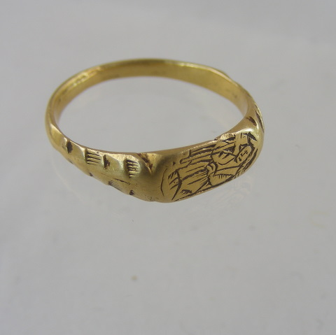 Fourteenth Century Gold Iconographic Ring