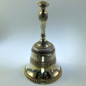 Silver gilt table bell