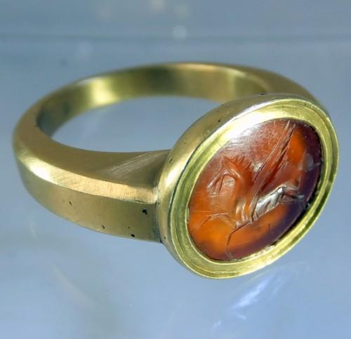 Pegasus Roman intaglio ring