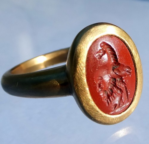Ancient Roman Gryllos Intaglio Ring