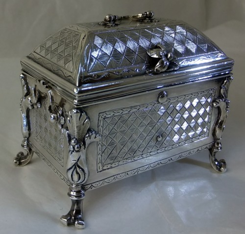 Small Spanish Colonial Silver casket