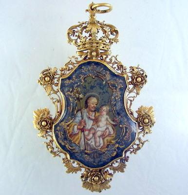 Large Gold Devotional Pendant
