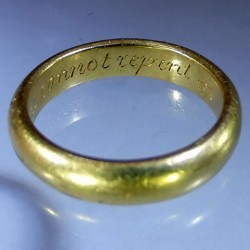 Eighteenth Century Gold Posy Ring