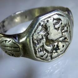 Ca 1500 Armorial Silver ring